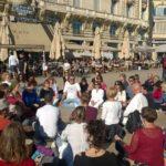 1er nov - méditation pour la terre-mêre  70 personnes place de la comédie